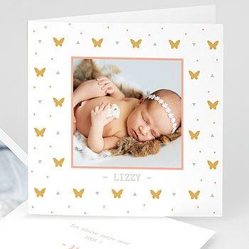 Geboortekaartje meisje - Miss Butterfly - 0