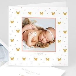 Geboortekaartje meisje Miss Butterfly