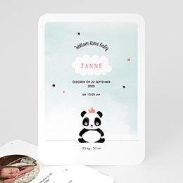 Aankondiging Geboorte Panda Girl