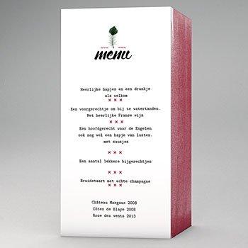 Personaliseerbare menukaarten huwelijk - Pauwenveer - 0