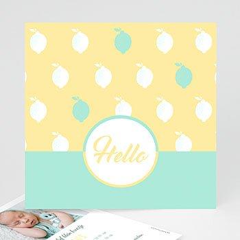 Geboortekaartje jongen - Limoncello - 0