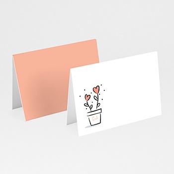 Tafelkaartjes huwelijk - 2 harten - 0