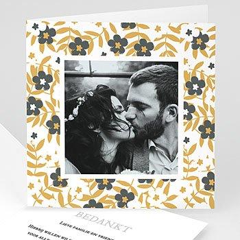 Bedankkaarten huwelijk met foto - Anemonen - 0