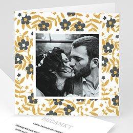 Bedankkaarten huwelijk met foto Anemonen
