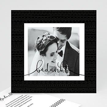 Bedankkaarten huwelijk met foto - Etnische stijl & Kraft - 0