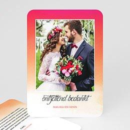 Bedankkaarten huwelijk met foto Sunset