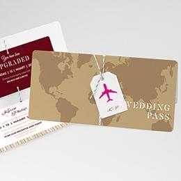 Trouwkaarten reizen Wedding Pass