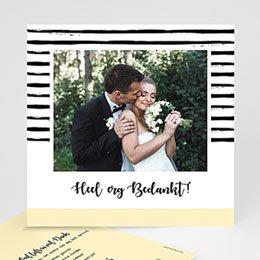 Creatieve bedankkaartjes huwelijk Strepen & geel