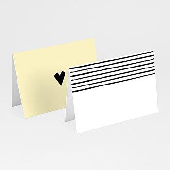 Tafelkaartjes huwelijk - Strepen & geel - 0