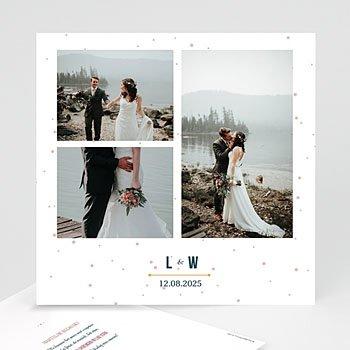 Bedankkaarten huwelijk met foto - Sterrenbeeld - 0