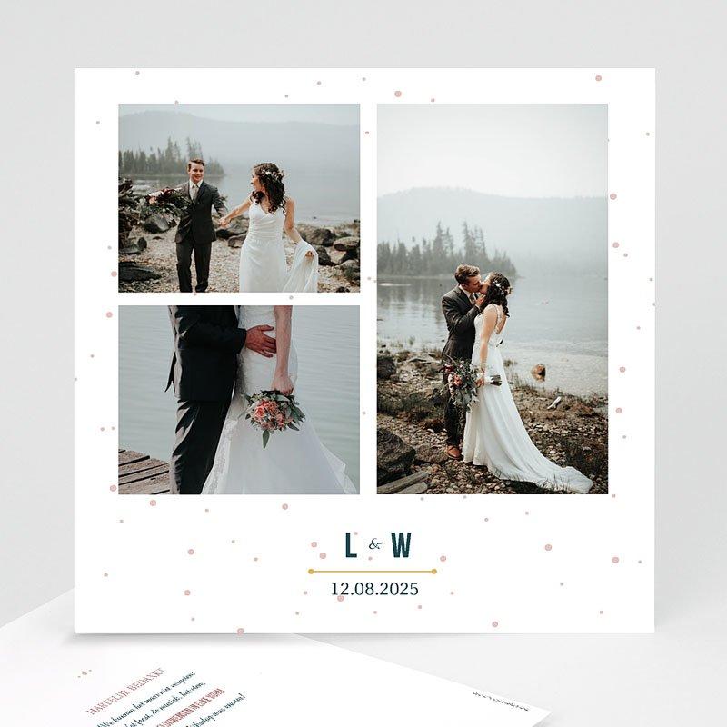 Bedankkaarten huwelijk met foto - Sterrenbeeld 60403 thumb
