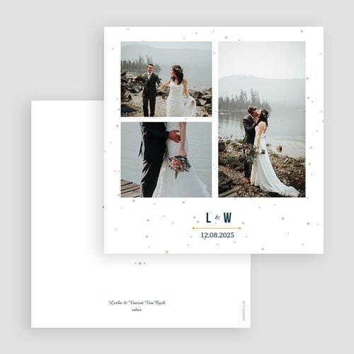 Bedankkaarten huwelijk met foto - Sterrenbeeld 60405 thumb