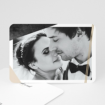 Bedankkaarten huwelijk met foto - Mineraal - 0