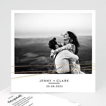 Bedankkaarten huwelijk met foto - Minimalist Chic - 0