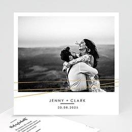 Bedankkaarten huwelijk met foto Minimalist Chic