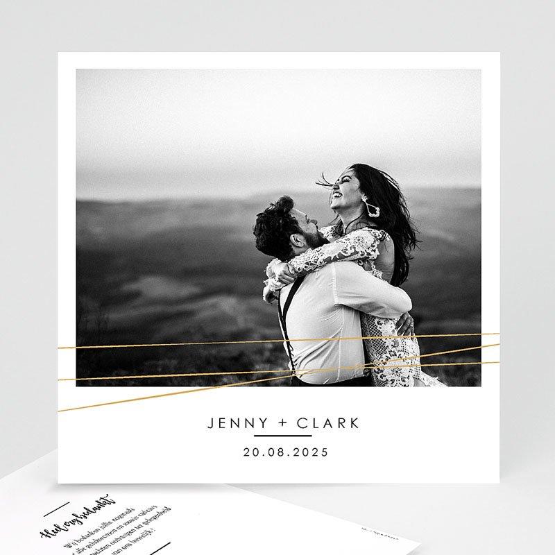 Bedankkaarten huwelijk met foto - Minimalist Chic 60479 thumb