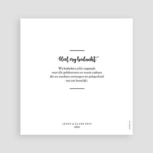 Bedankkaarten huwelijk met foto - Minimalist Chic 60480 thumb