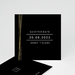 Save the date kaartjes Minimalist Chic