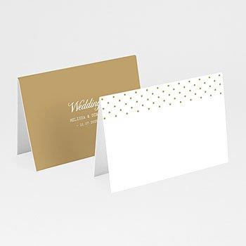 Tafelkaartjes huwelijk - Gouden Ja - 0