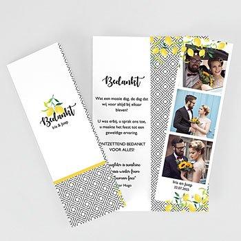 Creatieve bedankkaartjes huwelijk - Citrusvruchten - 0