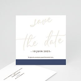 Save the date kaartjes Blue Color Touch