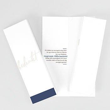 Bedankkaarten huwelijk met foto - Blue Color Touch - 0