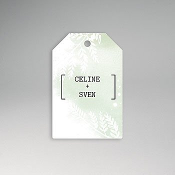 Etiket huwelijk - Groene aquarel - 0