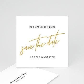 Save the date kaartjes - Gold & Bordeaux - 0