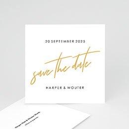 Save the date Huwelijk Gold & Bordeaux