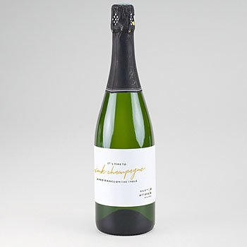 Huwelijk Flesetiketten - Gold & Bordeaux - 0