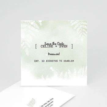 Save the date kaartjes - Groene aquarel - 0