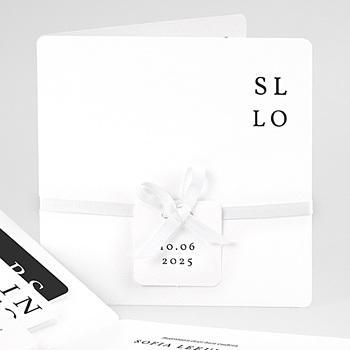 Trouwkaarten - Typografisch en Chic - 0