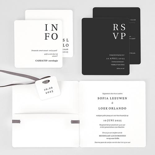 Trouwkaarten Typografisch en Chic gratuit