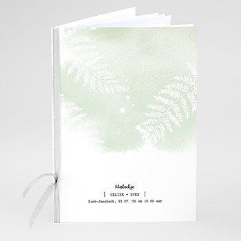 Boekomslag voor trouwboekjes - Groene aquarel - 0
