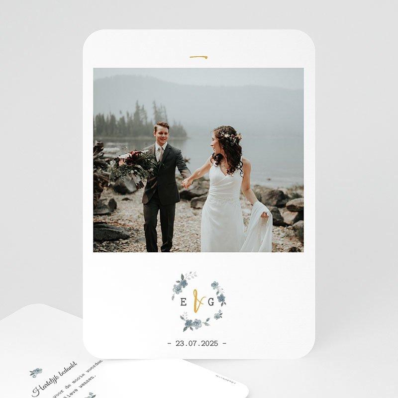 Exclusieve bedankkaarten huwelijk - Botanisch blauw 60820 thumb