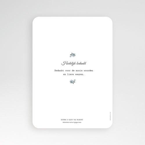 Exclusieve bedankkaarten huwelijk - Botanisch blauw 60821 thumb