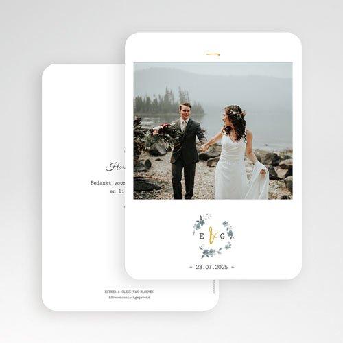 Exclusieve bedankkaarten huwelijk - Botanisch blauw 60822 thumb