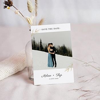Chique bedankkaartjes huwelijk - Nature Inspired & Gold - 0