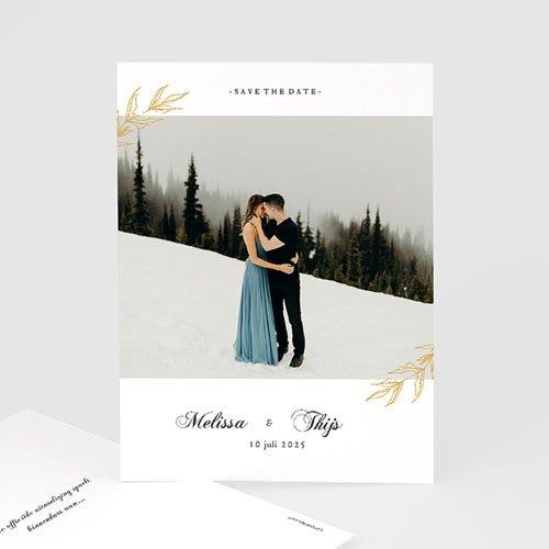 Chique bedankkaartjes huwelijk Nature Inspired & Gold