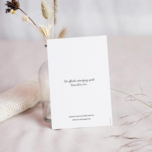 Chique bedankkaartjes huwelijk Nature Inspired & Gold pas cher