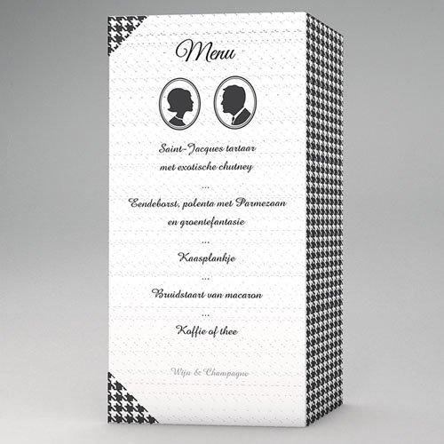 Personaliseerbare menukaarten huwelijk Plazza