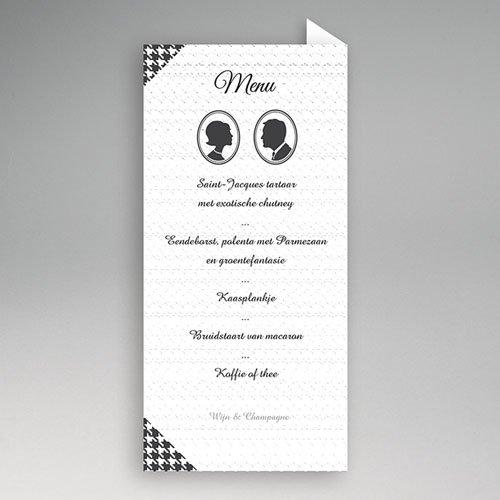 Personaliseerbare menukaarten huwelijk Plazza pas cher
