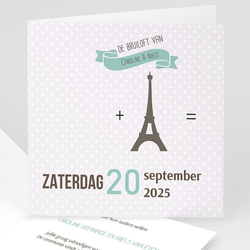 Trouwkaarten met foto - Paris Tour Eiffel 60948 thumb