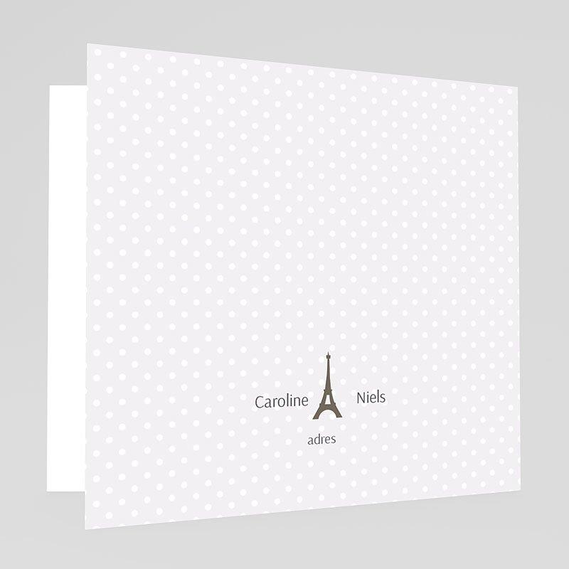 Trouwkaarten met foto - Paris Tour Eiffel 60950 thumb