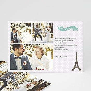 Bedankkaartjes huwelijk - Paris Tour Eiffel - 0