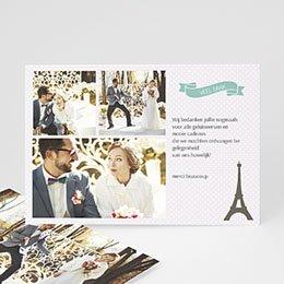 Bedankkaartjes huwelijk Paris Tour Eiffel
