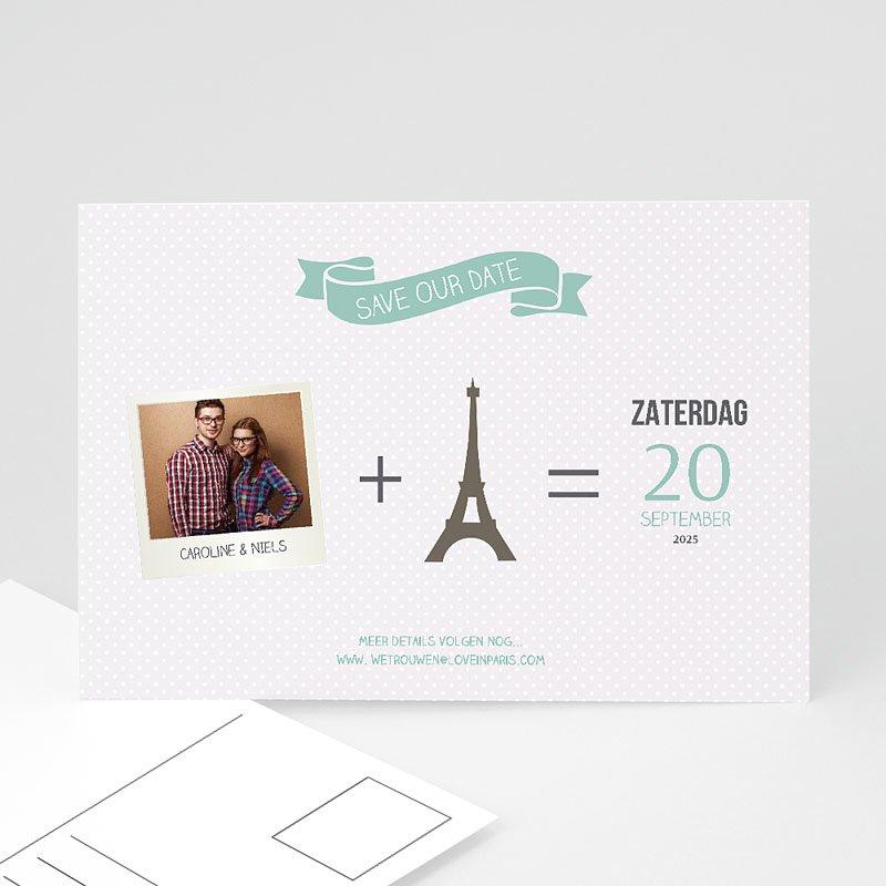 Save the date kaartjes - Paris Tour Eiffel 60954 thumb