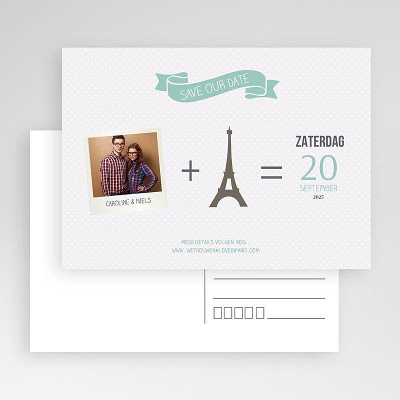 Save the date kaartjes - Paris Tour Eiffel 60956 thumb