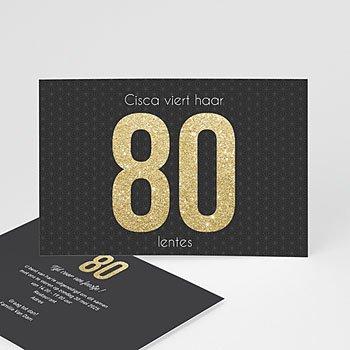 Verjaardagskaarten volwassenen - Or 80 - 0