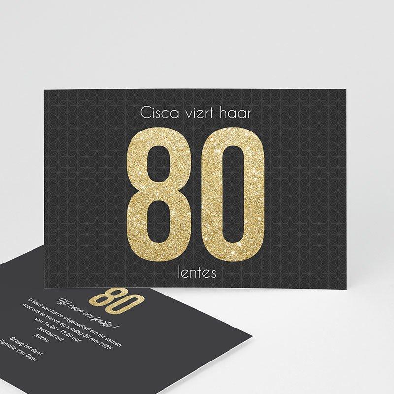 Verjaardagskaarten volwassenen 80 Goud